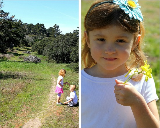 Nature walk and nature crafts for kids