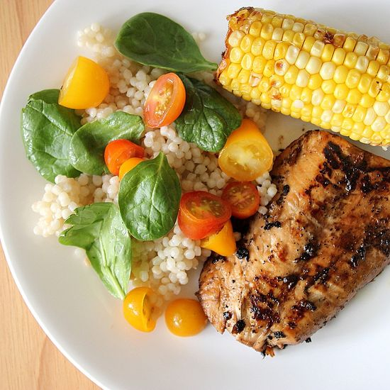 Grilled Salmon and Couscous Salad