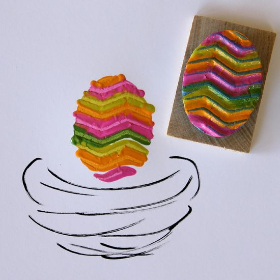 Easter Egg Painted Stamp