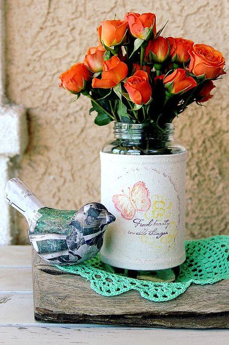 Stamped Vase Cozy