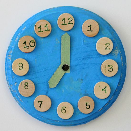 handmade kids clocks