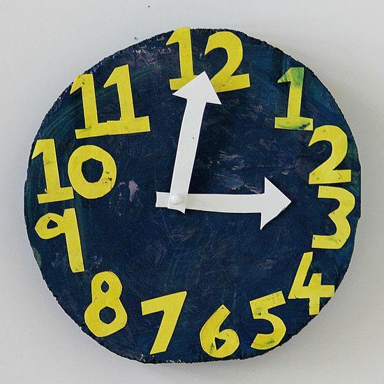 wood clock for kids