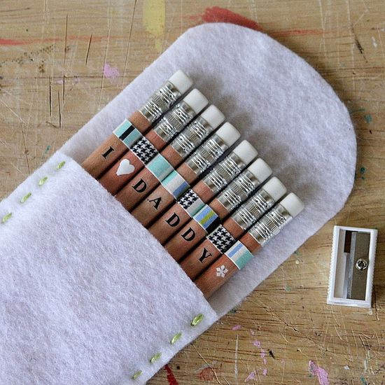 personalized pencils and pouch
