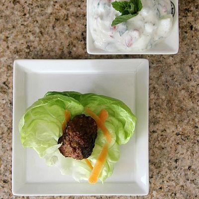 Meatball lettuce wraps