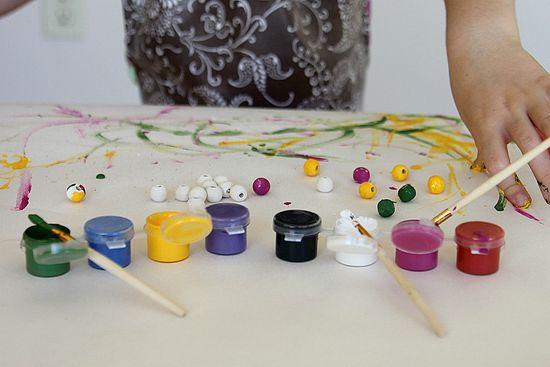 handpainted beads