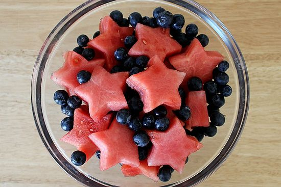 Blueberry and watermelon salad