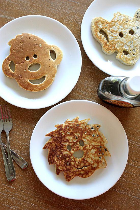jungle animal pancakes
