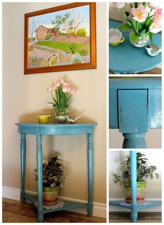 how to paint a hall table