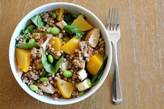 Chicken, Couscous and Peach salad