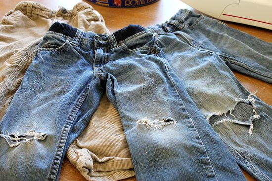 boys jeans to shorts