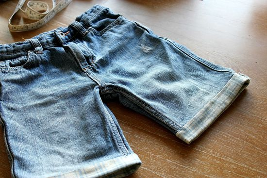 jeans turned into shorts