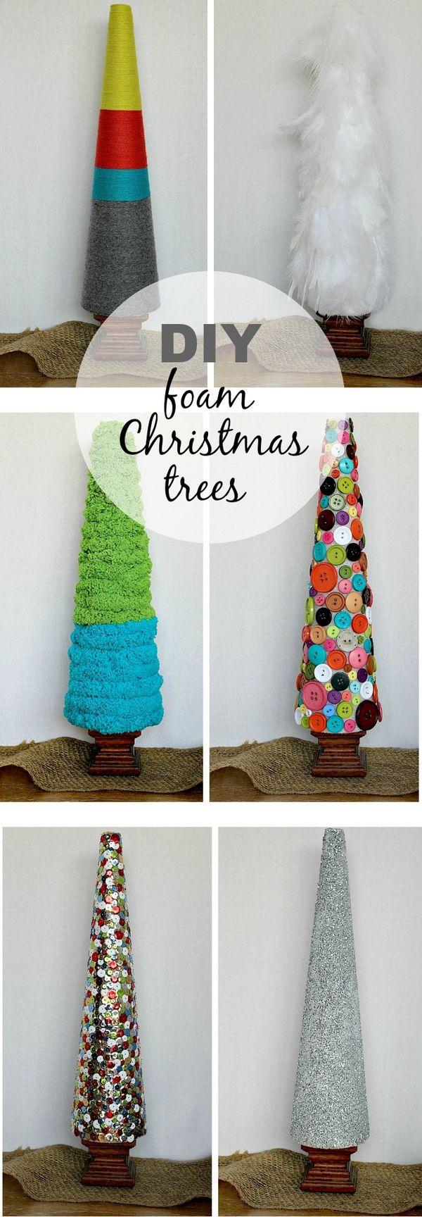 DIY foam Christmas trees