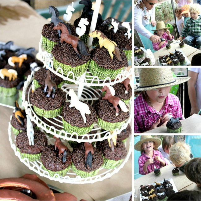 Easy cupcakes for a horse themed birthday party