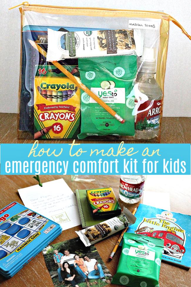 Emergency comfort kit for kids