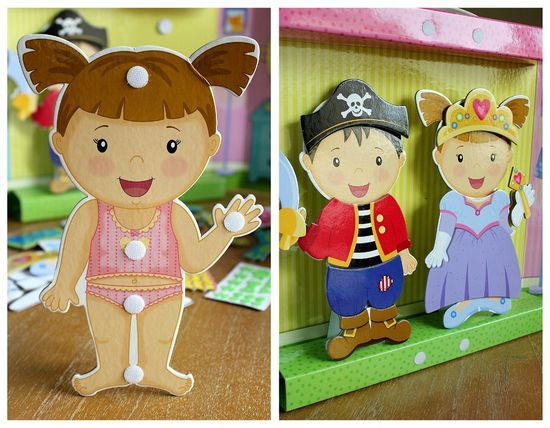 Princess and Pirate Paper Dolls