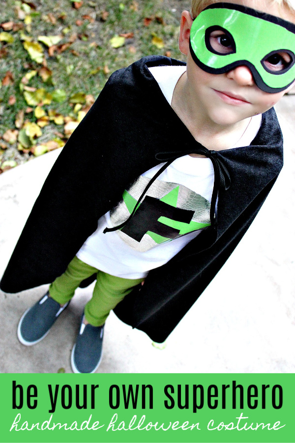 Be your own superhero this Halloween with a handmade costume