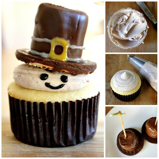 How to make pilgrim cupcakes