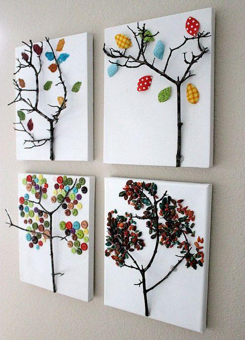Fall tree and leaf craft