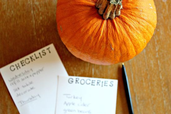 Holiday meal planning and checklist