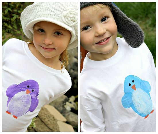 Penguin tshirt craft for kids