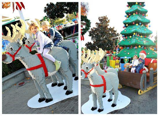Legoland Santa and Reindeer