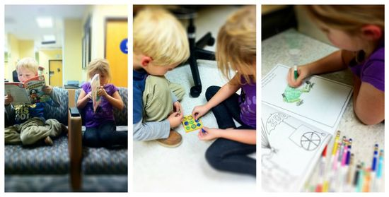 ways to entertain kids at doctors appointments