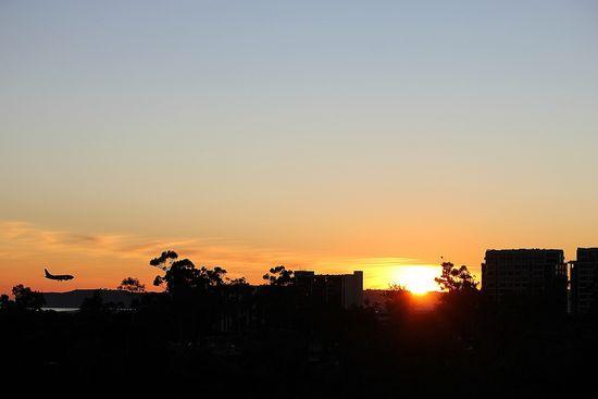San Diego at sunset