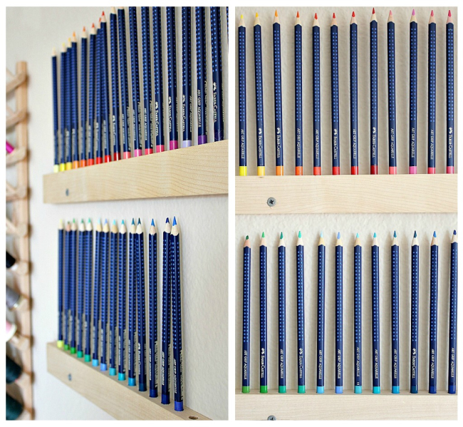 wall mounted pencil holder