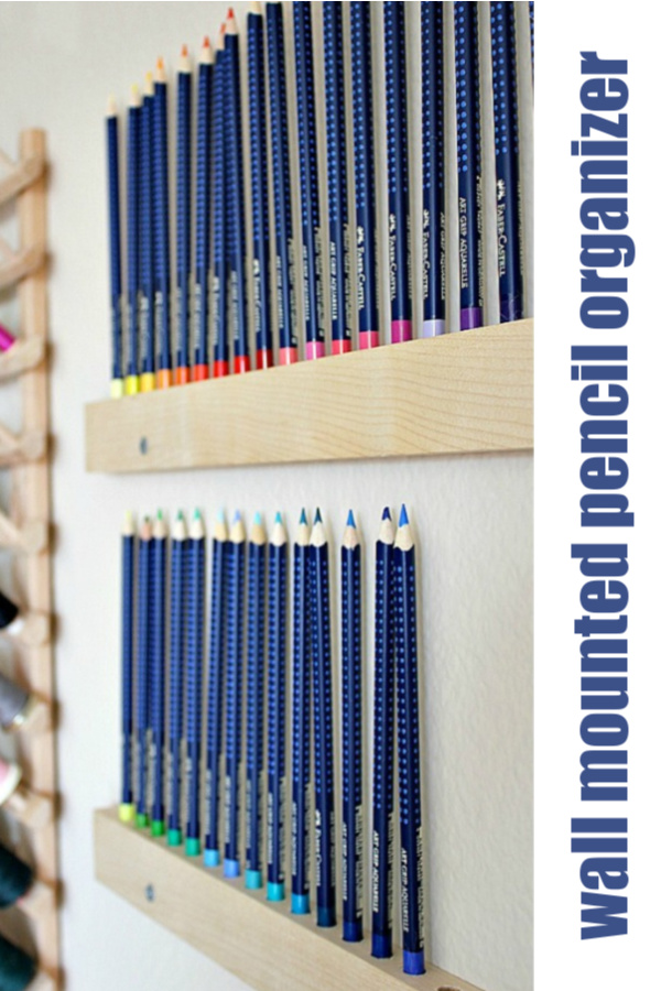 How to make an easy wall mounted pencil organizer