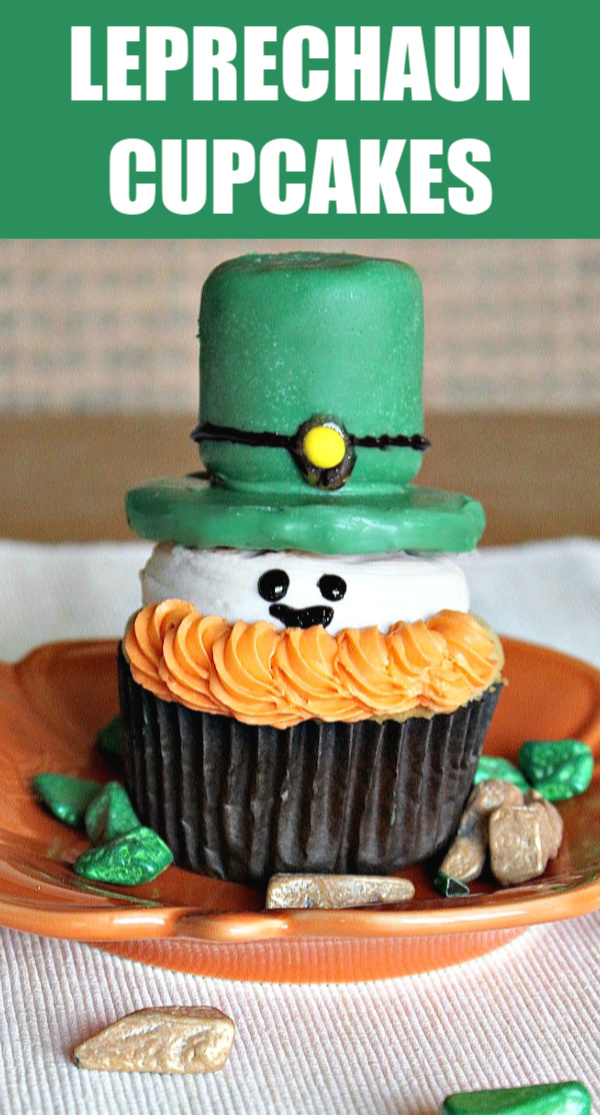 Easy Leprechaun cupcakes for St. Patrick's Day parties