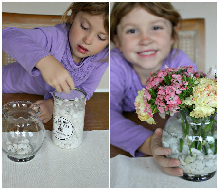 Kids flower arrangements