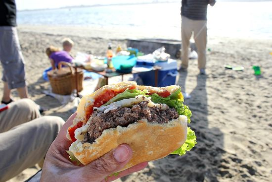 beach grilling