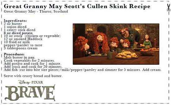 BRAVE Great Granny May Scotts cullen skink recipe