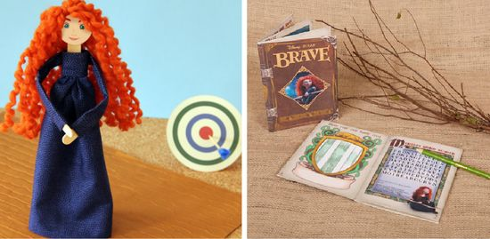 BRAVE activity book and doll