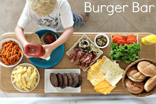 burger bar at home