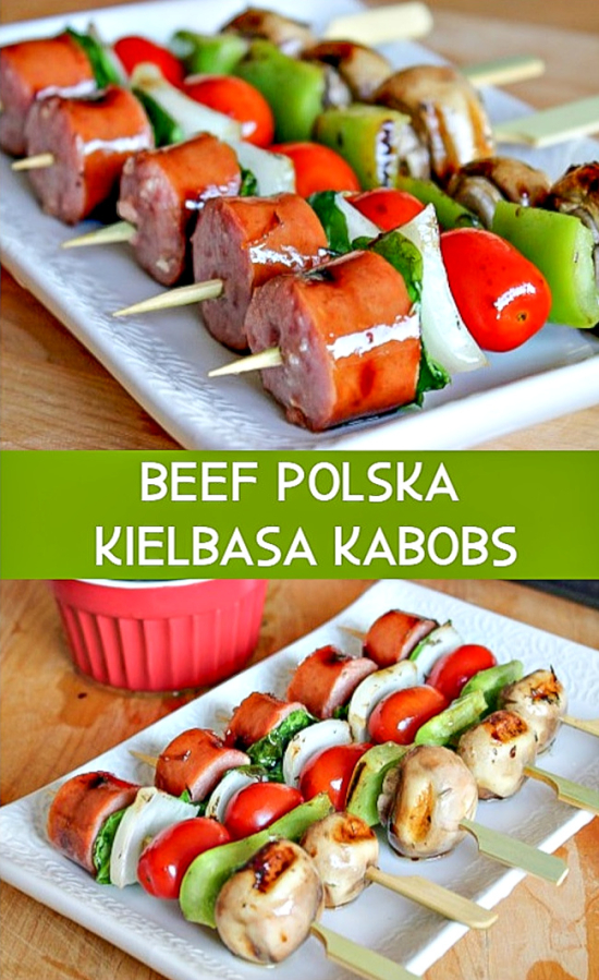 Beef polska kielbasa kabob recipe