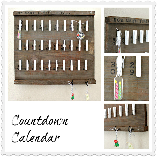 Wood Countdown Calendar