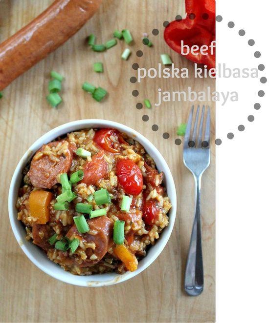 Beef polska kielbasa jambalaya