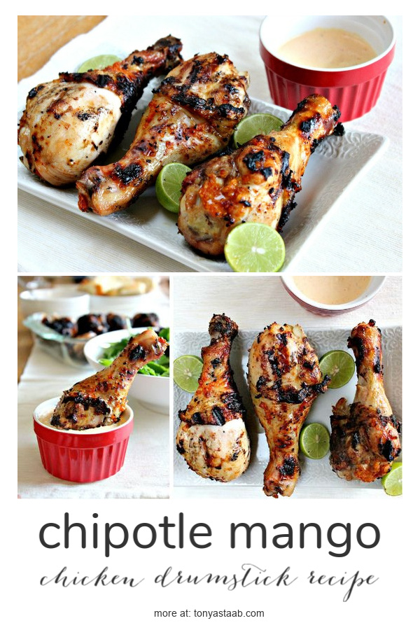 A chipotle mango chicken drumstick recipe that's perfect for summer grilling