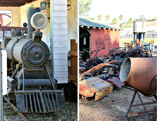 Antique gas and steam engine museum vista