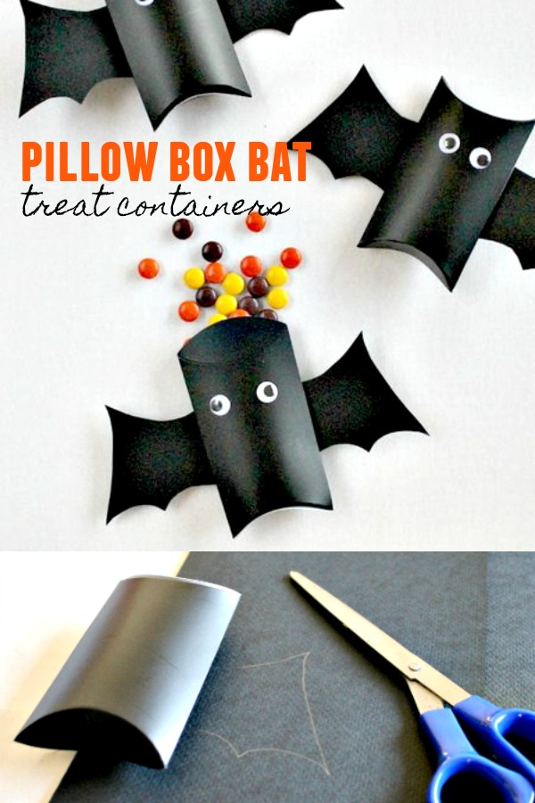 Pillow Box Bat Treat Containers