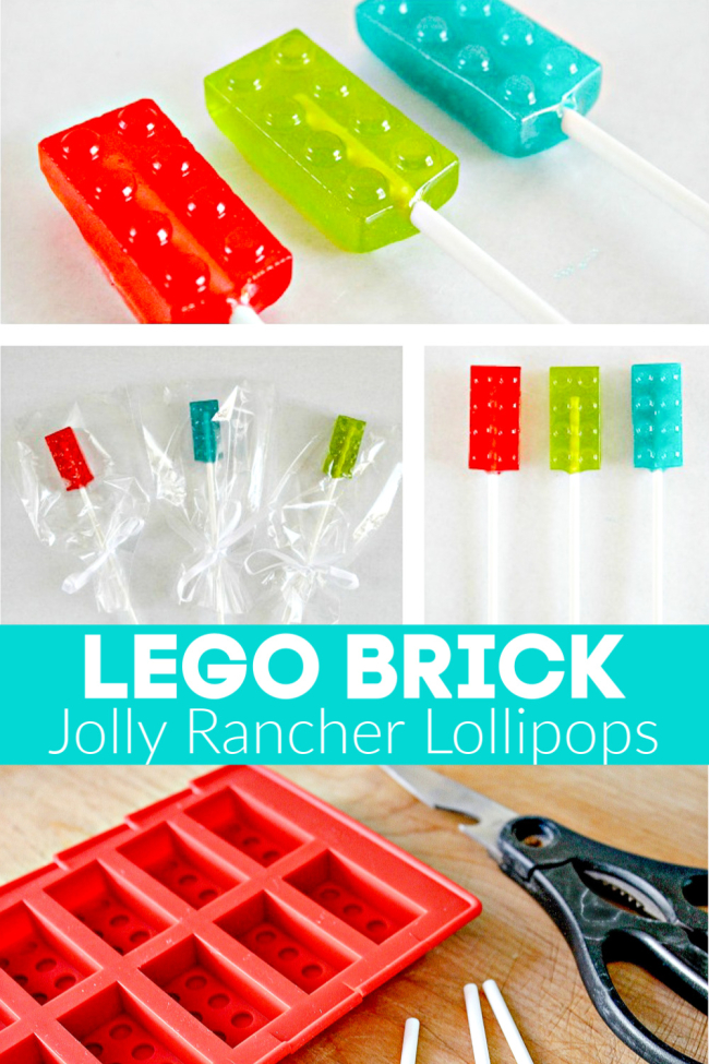 How to make homemade LEGO brick Jolly Rancher lollipops