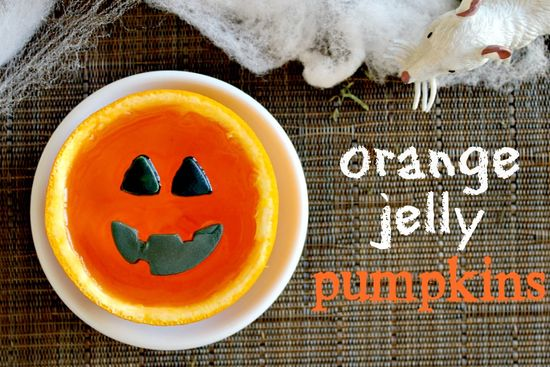 Orange Jelly Pumpkins for Halloween