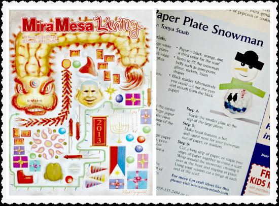 Mira Mesa Living Paper Plate Snowman