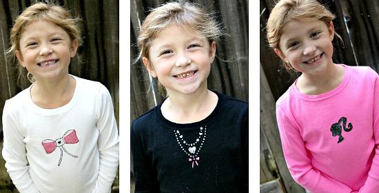 Handmade Barbie Shirts for Girls