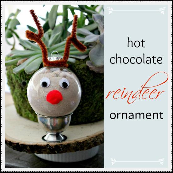 Hot Chocolate Reindeer Craft