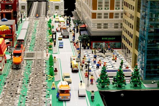 Lego Christmas Train display