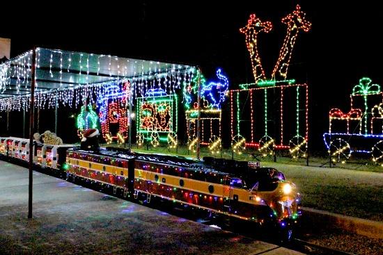 Christmas Train at Balboa Park