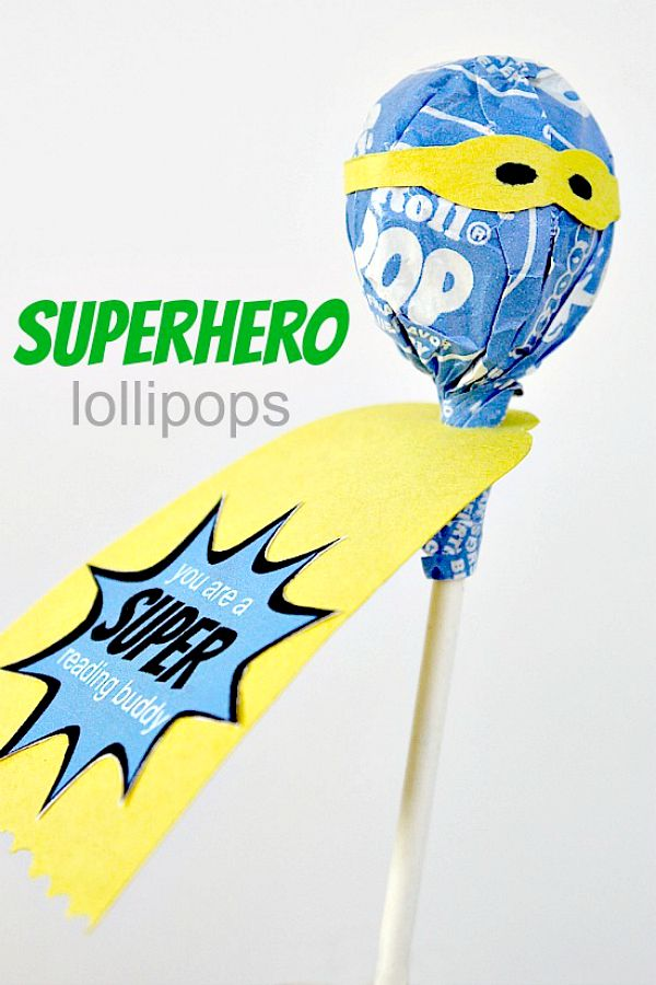 superhero lollipops craft