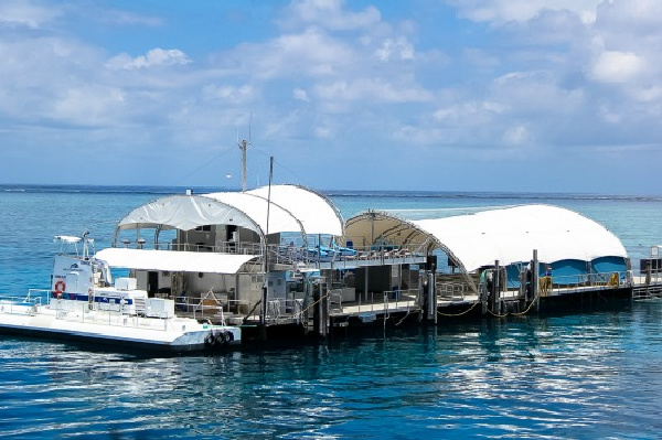 pontoon on the great barrier reef